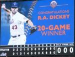 RA Dickey 20-Game Winner